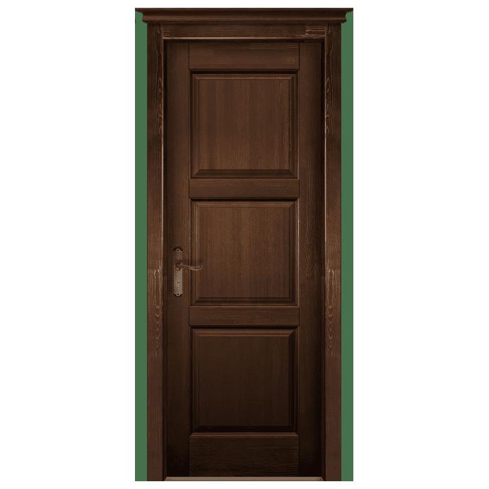 Межкомнатная дверь Массив сосны Турин. Античный Орех
