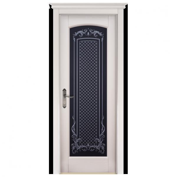 Межкомнатная дверь Массив сосны Витраж. Слоновая кость