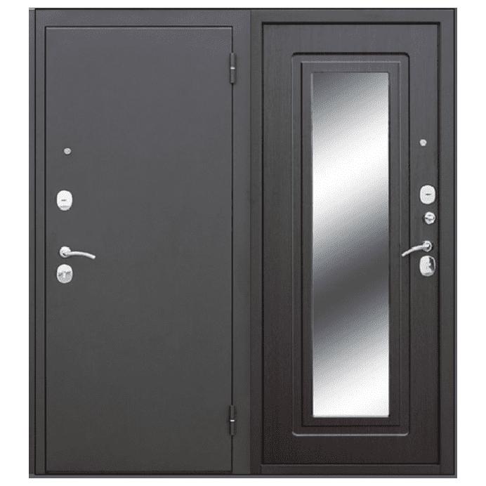 Дверь входная Гарда Царга зеркало муар. Венге