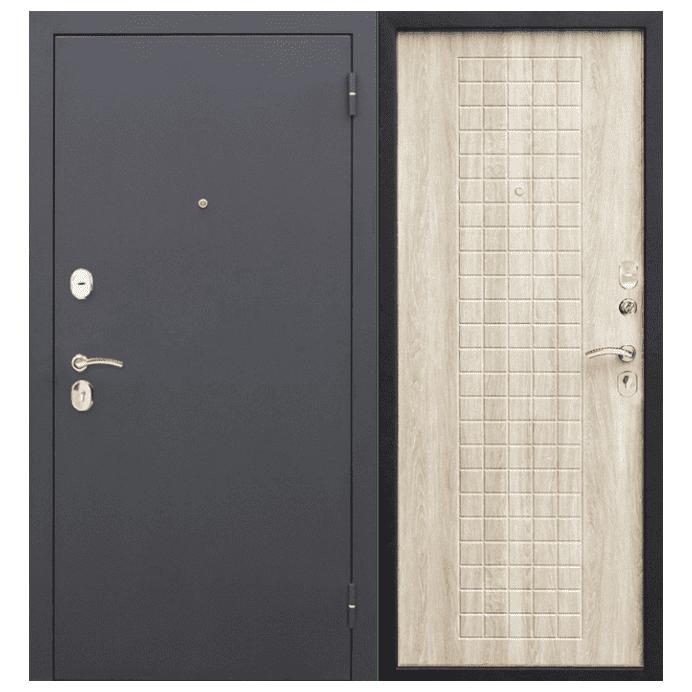 Дверь входная Гарда Муар 8 мм. Белый Ясень