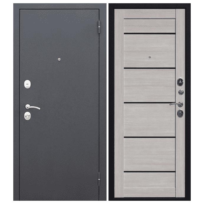 Дверь входная Гарда Муар Царга 6 мм. Лиственница Мокко