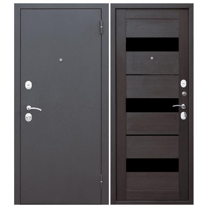 Дверь входная Гарда Муар Царга 6 мм. Темный Кипарис