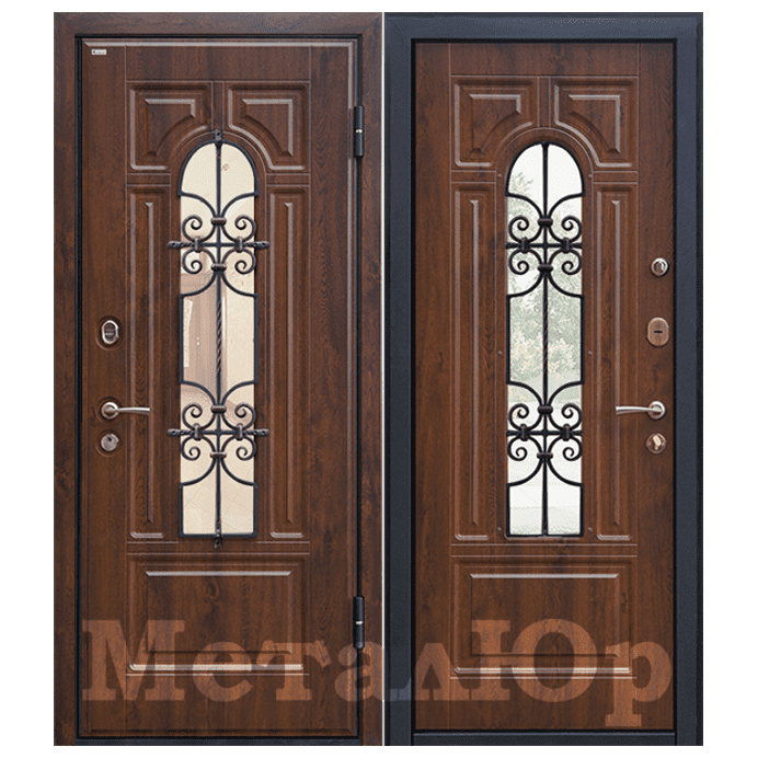 Дверь входная МеталЮр М30. Темный Орех
