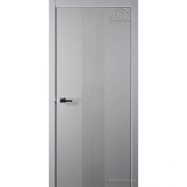 Дверь межкомнатная Эмалированная Belwooddoors Модель Ивент 1 глухая. Эмаль светло-серая