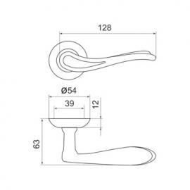 Ручка раздельная Octan LD64-1SN/CP-3 матовый никель/хром