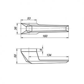 Ручка раздельная STONE UCS СР-8 Хром