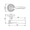 Ручка раздельная VENTO ML ABG-6 зеленая бронза2