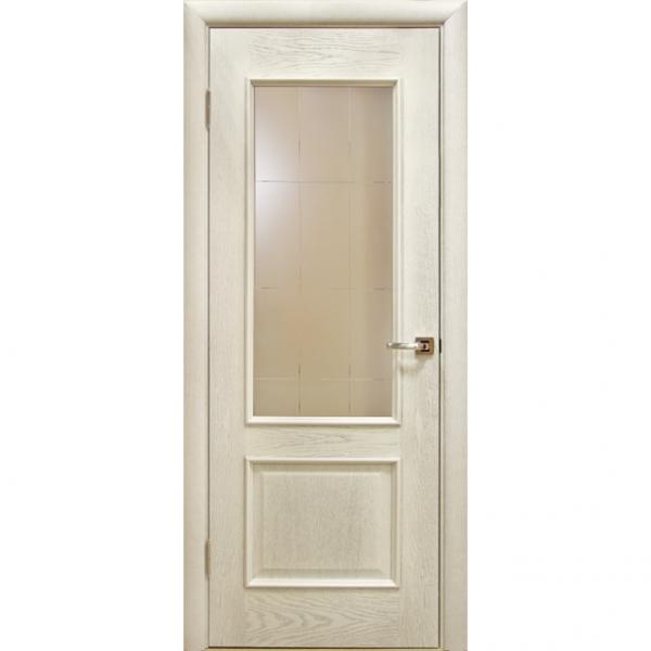 Межкомнатная дверь шпонированная дубом Лоза Авангард
