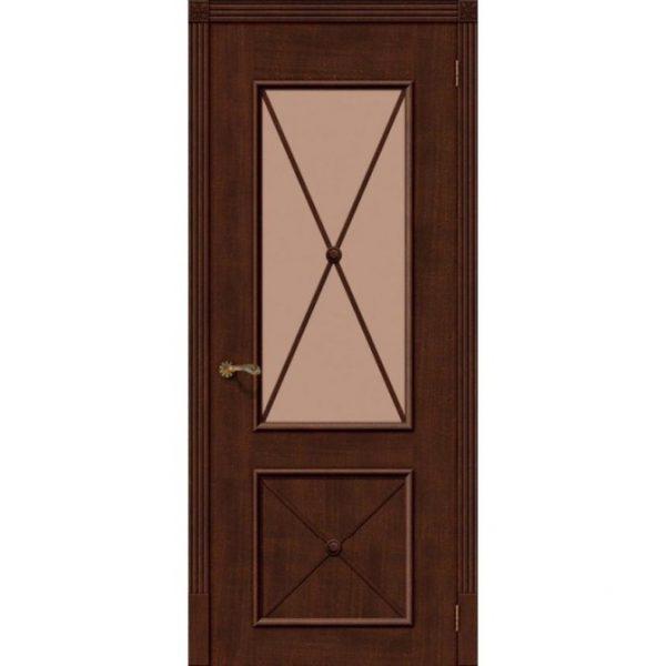 Межкомнатная дверь шпонированная дубом Лоза Луи