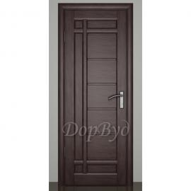 Дверь межкомнатная из массива ольхи Дорвуд. Модель 10 ДГ Венге