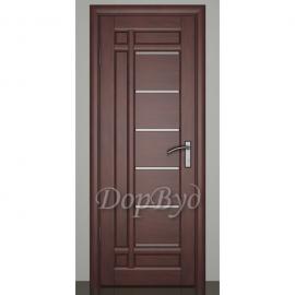 Дверь межкомнатная из массива ольхи Дорвуд. Модель 10 ДЧ Махагон